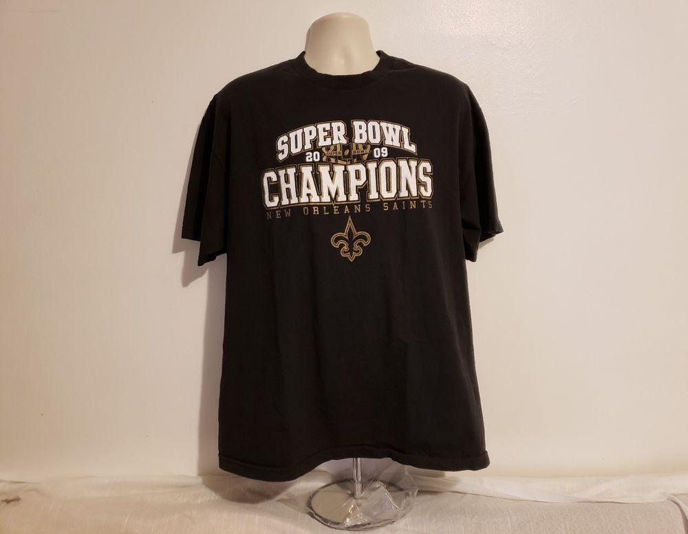 new products 26e5c 6f92f Details about 2009 Super Bowl Champions New Orleans Saints ...