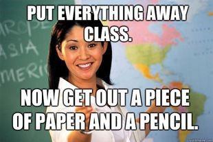 Unhelpful High School Teacher Meme Teacher Memes School Humor High School Teacher
