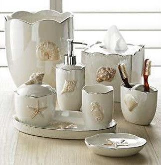 Gorgeous Collection Of Ceramic Bath Accessories With Classic