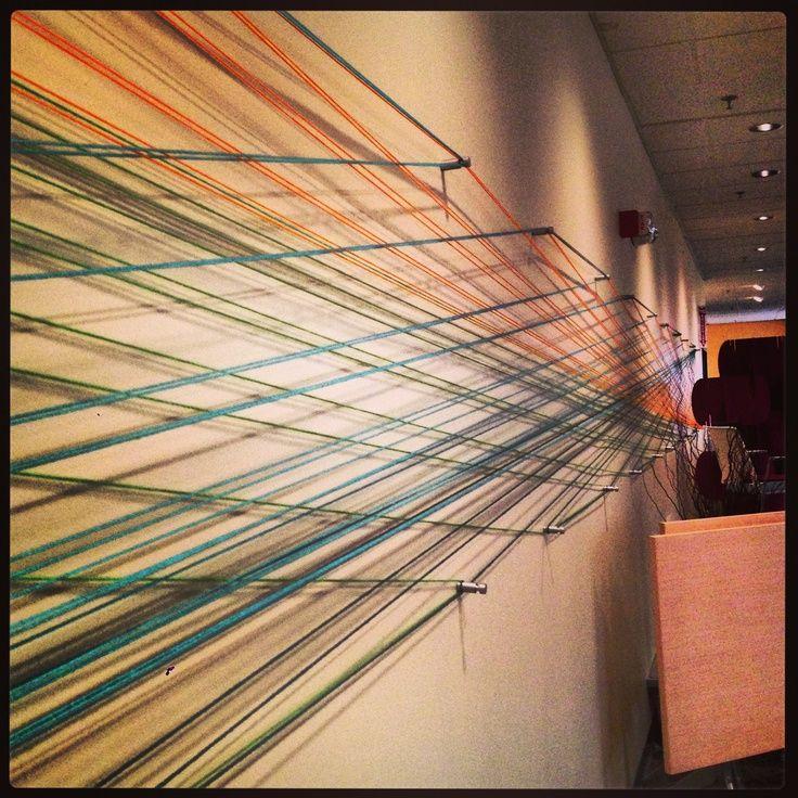 Yarn Wall Art yarn wall art | yarn wall art! use nails or fancy aluminum pegs