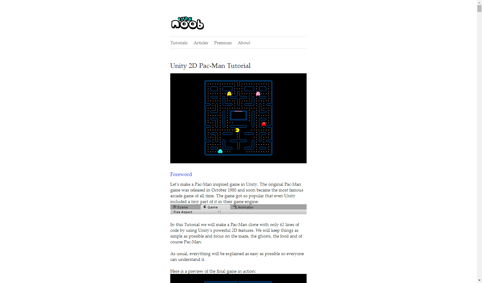 noobtuts - Unity 2D Pac-Man Tutorial | [Game Dev] Unity | Game dev