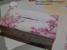 Tutoriel pour faire une boîte mouchoirs en cartonnage http://bidouillette1954.canalblog.com/archives/2007/12/22/6983853.html