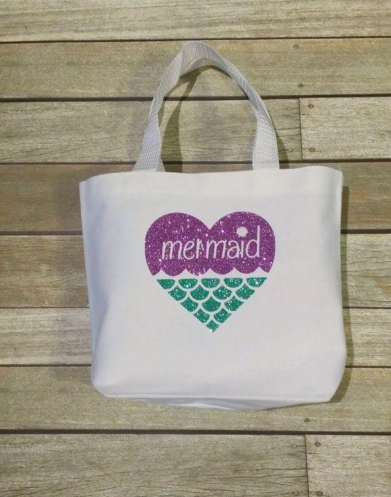 54ba1513c31a Mermaid Tote Bag Personalized Tote Bag Girl's mermaid tote mermaid ...