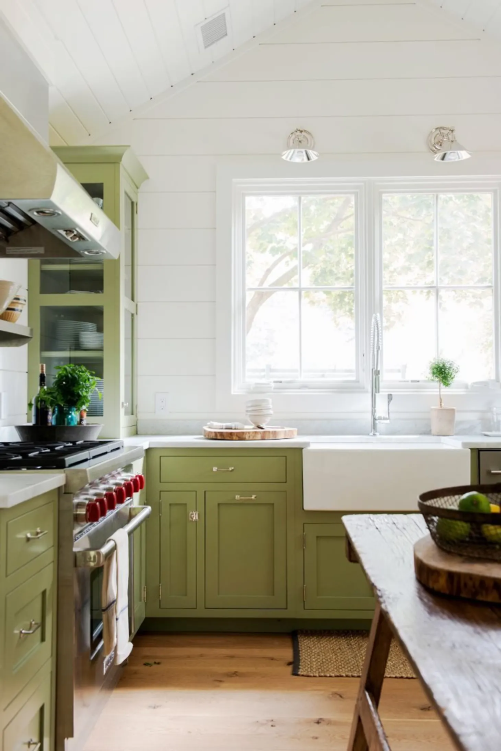 everything you need to know about shiplap in 2020 green kitchen green kitchen cabinets on farmhouse kitchen wall colors id=30801