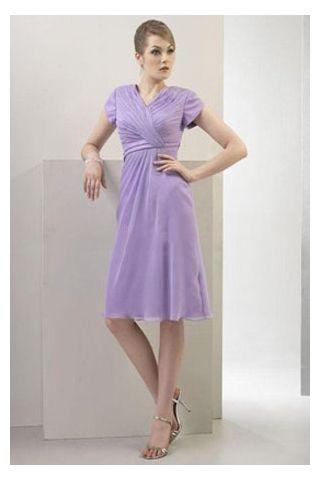 Lavender Knee Length Dress