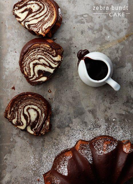 Zebra Bundt Cake from @Bakers Royale  I love bundt cake!