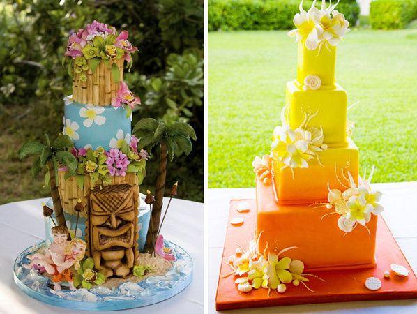 Hawaiian Wedding Cakes Hawaiian Wedding Cake Themed Wedding Cakes Luau Cakes