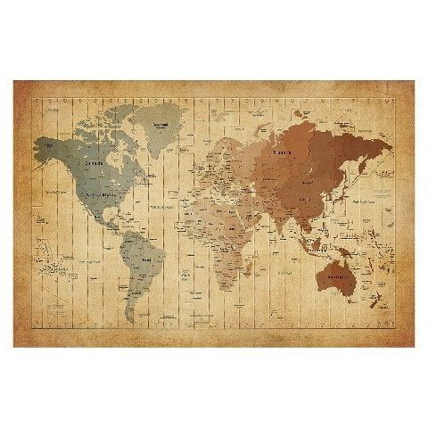 Michael tompsett time zones map of the world canvas art house michael tompsett time zones map of the world canvas art gumiabroncs Images