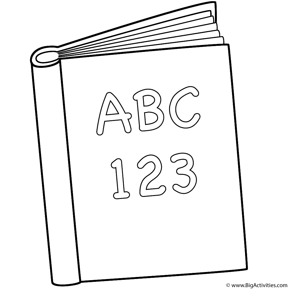 Abc And 123 Book Coloring Page 100th Day Of School Coloring Book Pages School Coloring Pages Coloring Pages