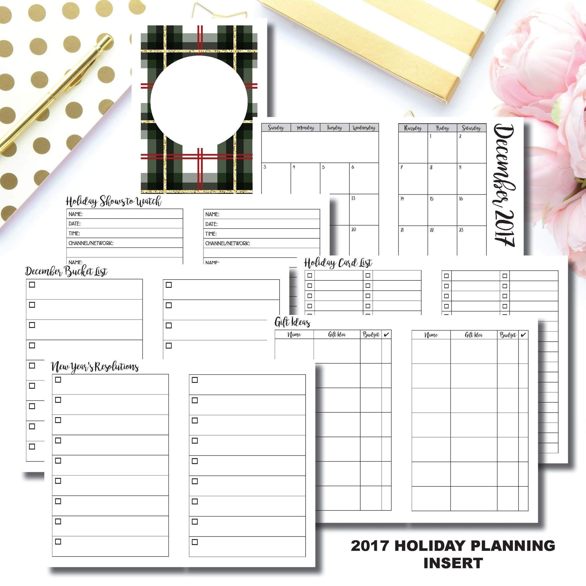 picture about Free Printable B6 Inserts referred to as B6 TN Measurement 2017 Holiday vacation Coming up with Printable Vacationers