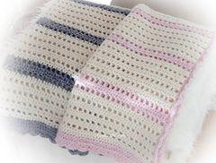 Ravelry: Heklet vognteppe/pledd pattern by Monica Norseth
