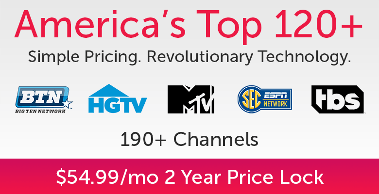 America's Top 120 Plus Offers 195+ TV Channels Plus Sports