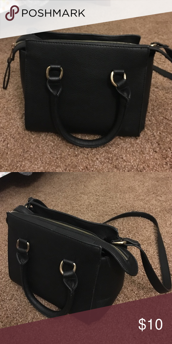 small forever 21 purse. small bag with long shoulder strap. Doesnt come with the fur ball chain. Forever 21 Bags Crossbody Bags