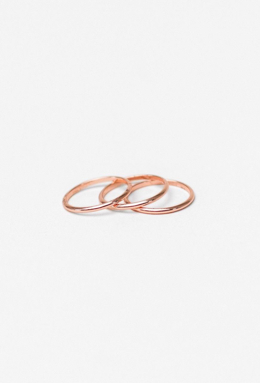 hina midi rings, rose gold