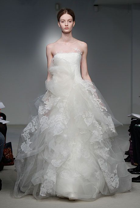 Illusion Neckline Wedding Dress Brides Vera Wang