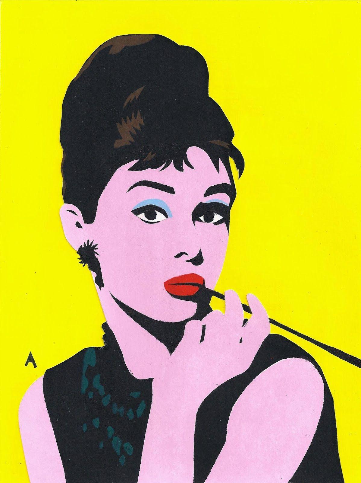 Audrey hapburn andy warhol | audrey hepburn in gekleurde stencil ...