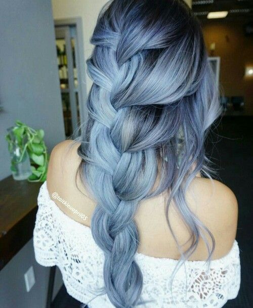 blue hair blue hair pinterest haar blaue haare und haarfarben. Black Bedroom Furniture Sets. Home Design Ideas