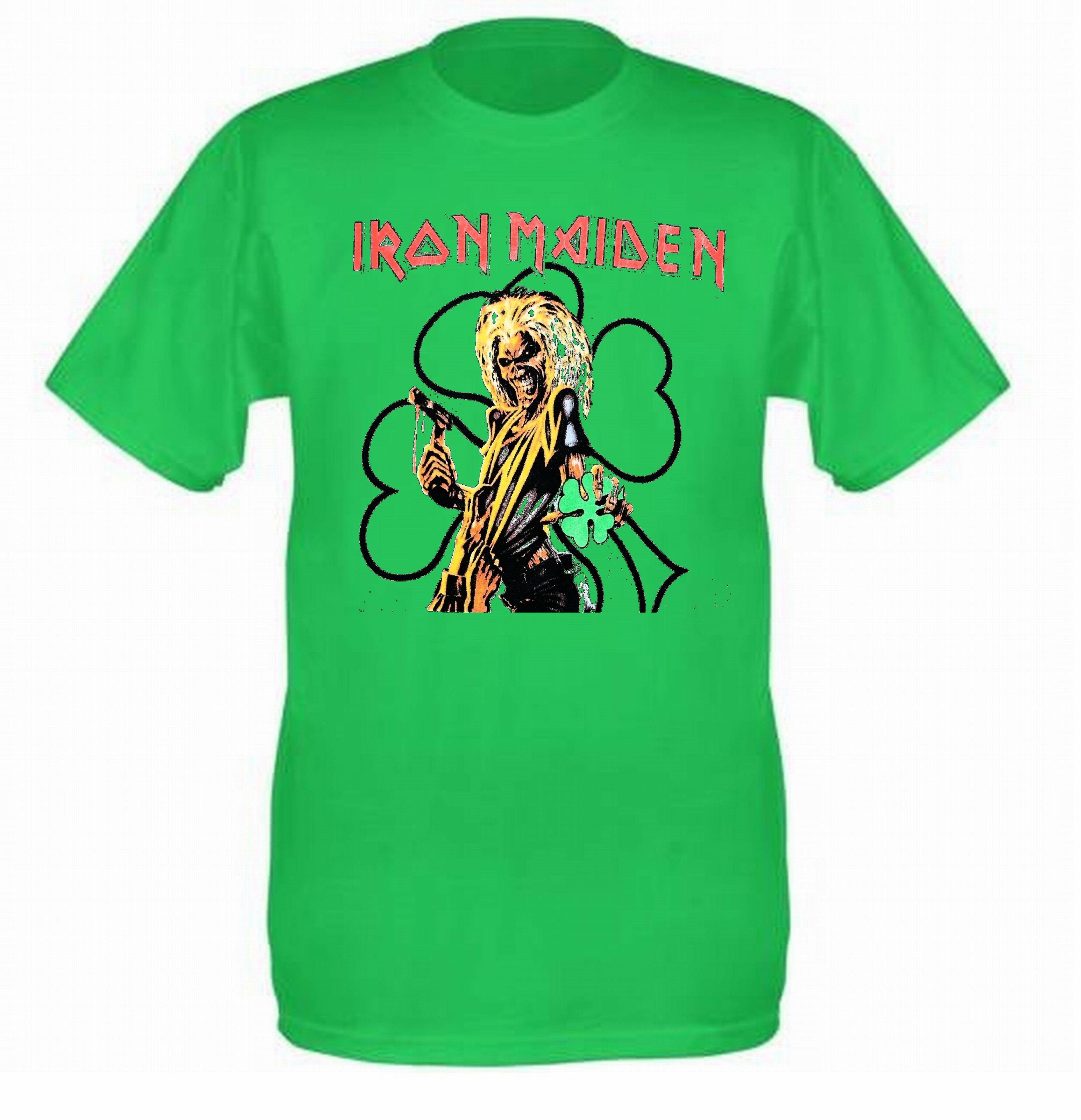 Iron maiden shirt vintage tshirt 1991 st patricks day