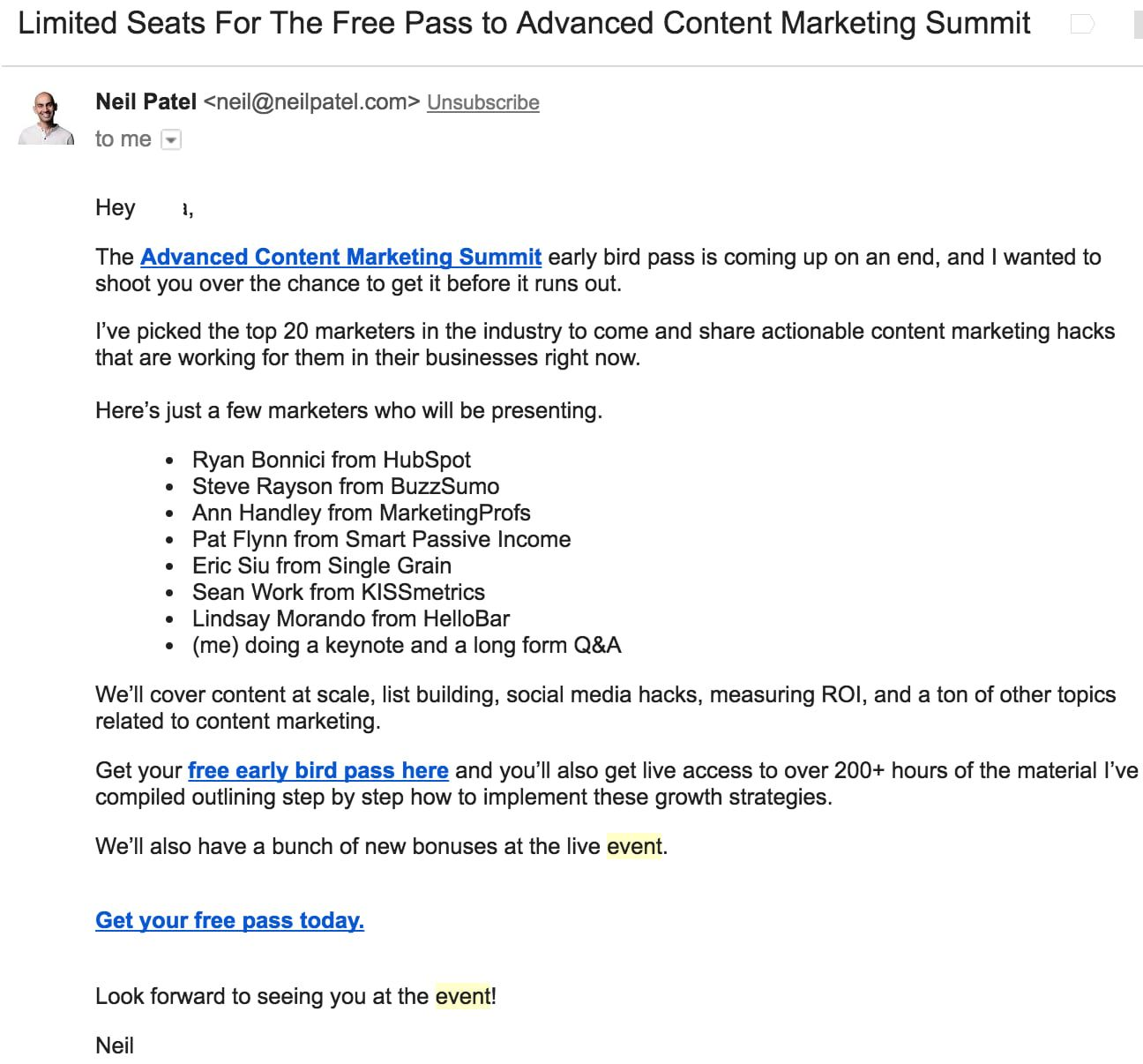 15 Real Examples of Event Invitation Emails - NEWOLDSTAMP  Email