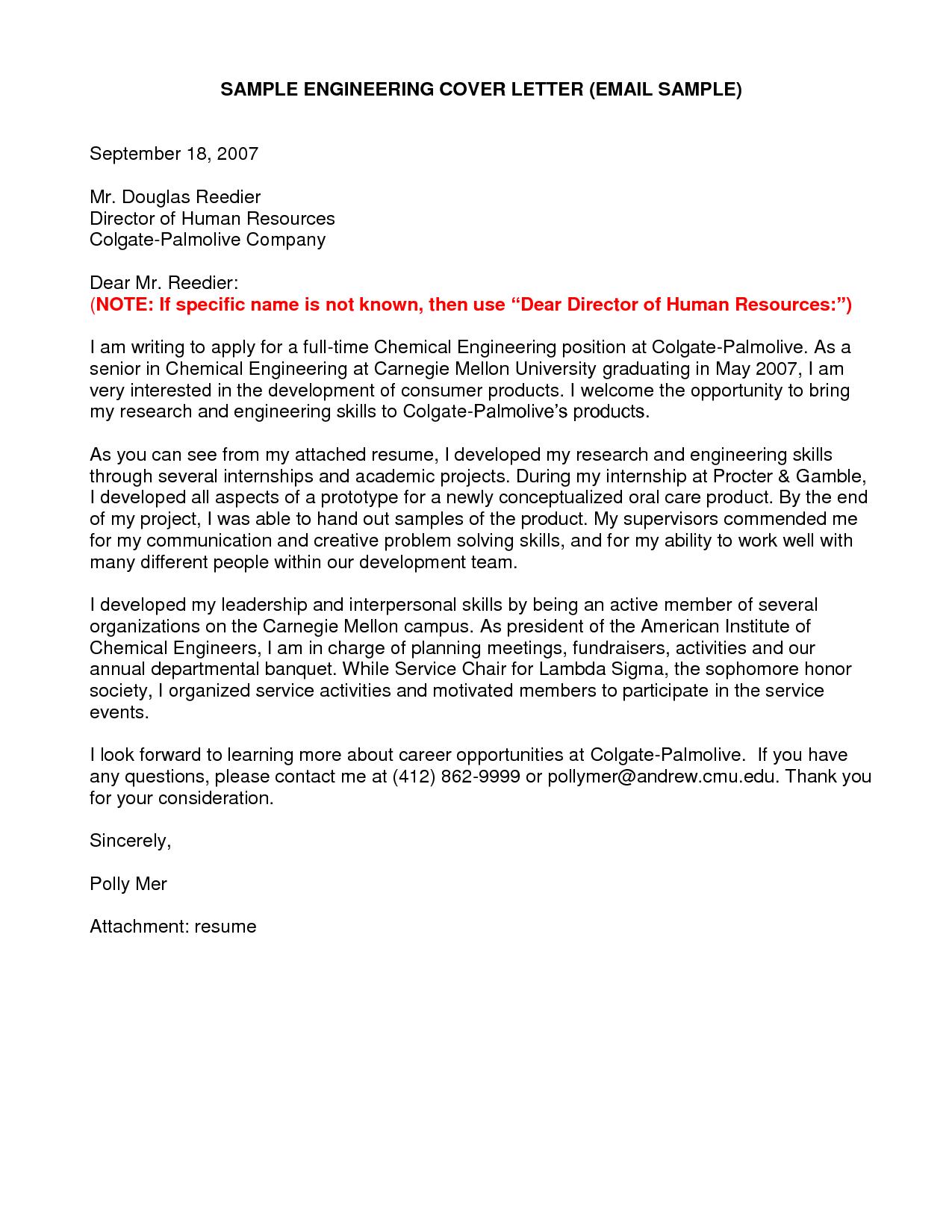 Student Cover Letter For Resume Resume Cover Letter Engineering Student Cover Letter  News To Gow .