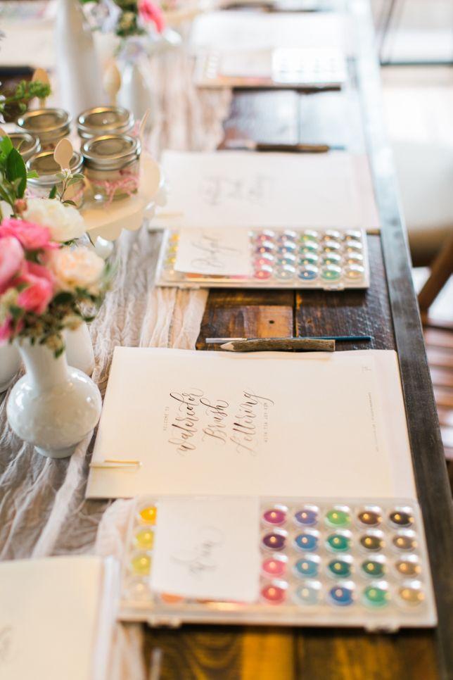 Tia Joy Kim Calligraphy Workshop // Blushing Joy Events // Bay Area Lifestyle Photographer // Olivia Richards Photography