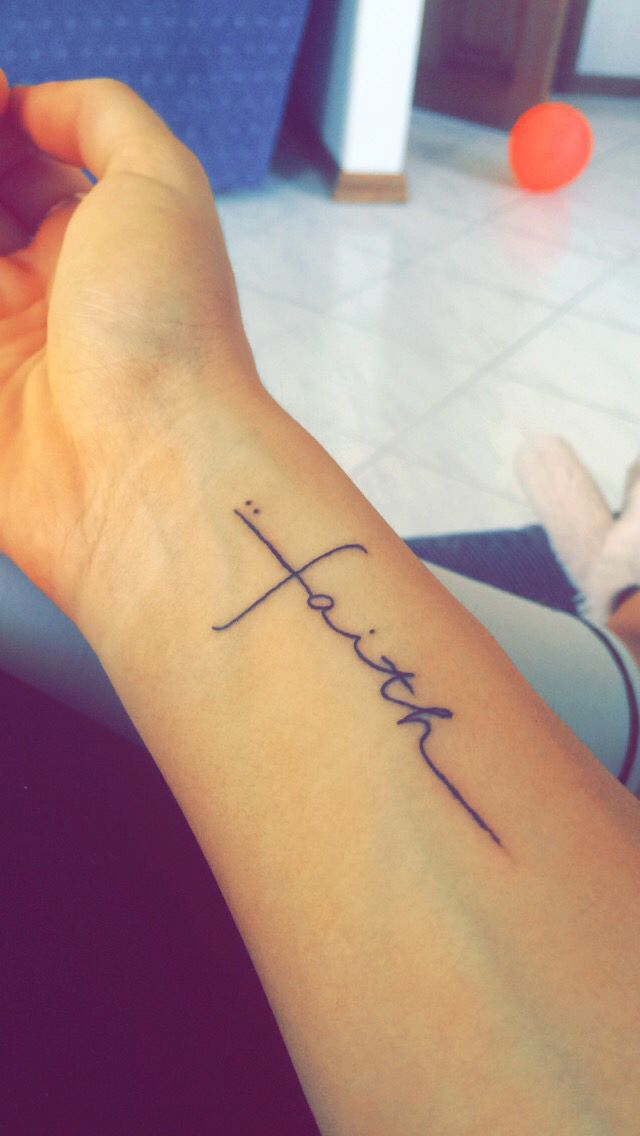 9d1560f4e Holy Faith Tattoo | Tattoos | Tattoos, Arrow tattoos, Arm quote tattoos
