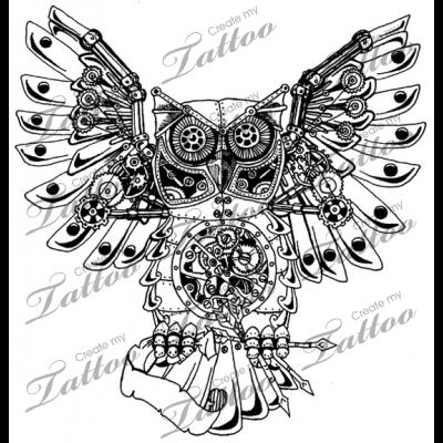 Pin By Bogdan Cremene On Robot Tattoo Designs Steampunk Tattoo Tattoos Custom Tattoo Design