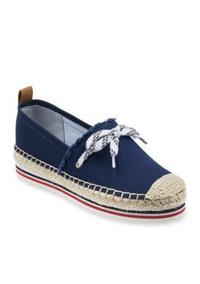 4fca3f5cf Tommy Hilfiger Women s Cactus Close Toe Espadrille - Dark Blue Fabric - 8M