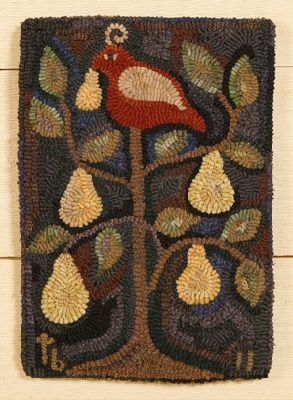 Quot Partridge In A Pear Tree Quot Hand Hooked Rug From The Tweed