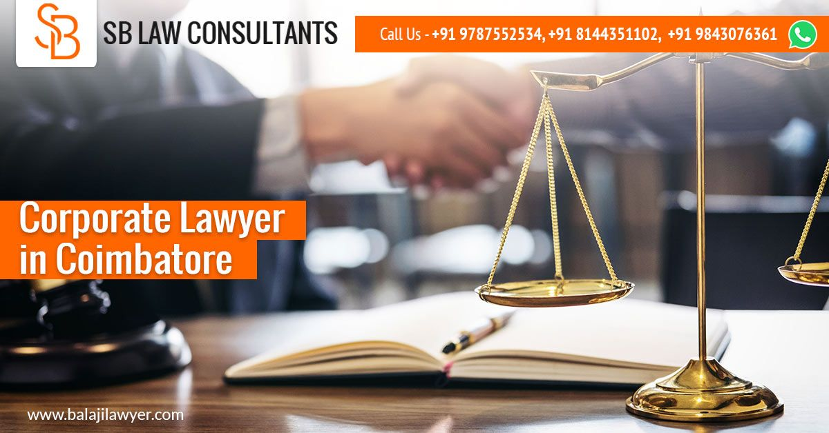 Balaji Lawyer Is The Corporate Lawyer In Coimbatore Expertise In
