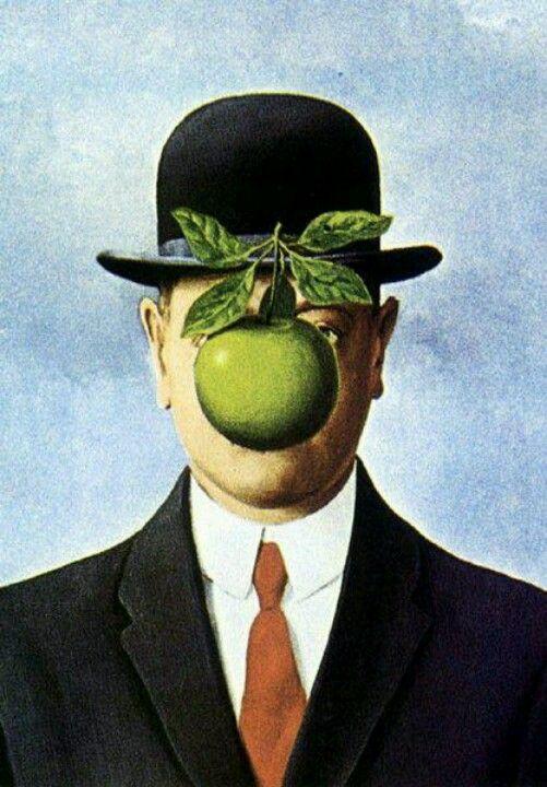 Le Fils De L Homme By Rene Magritte Magritte Peinture Celebre Portrait Peinture A L Huile