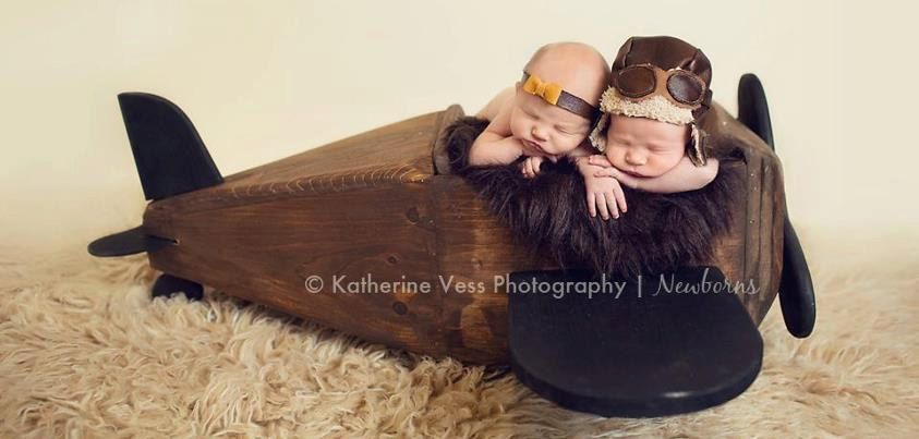 Newborn Photo Prop, Vintage Plane, Aviator Plane- made to order. $227.00, via Etsy.