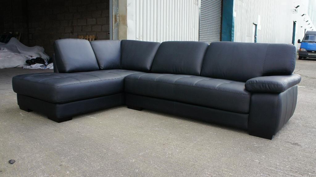 New Black Real Leather Corner Sofa Stoke On Trent Staffordshire Gumtree Leather Corner Sofa Corner Sofa Sofa