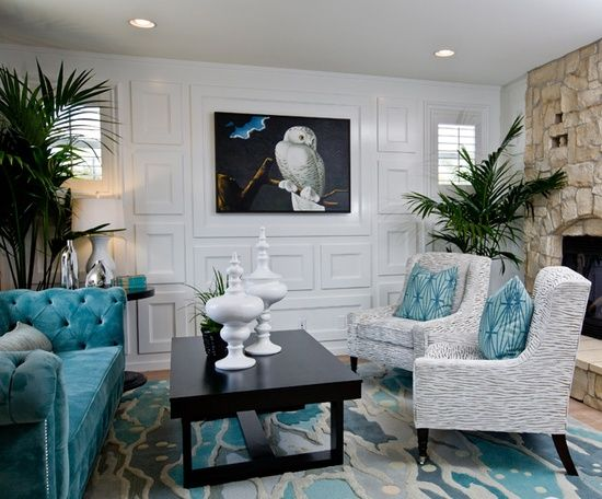 ❈• House of Turquoise: Lulu Designs i the wall molding and the on dionne warwick home, van morrison home, john lennon home, frank sinatra home, barry white home, meghan trainor home,