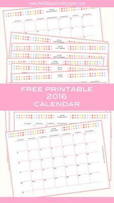 free printable 2016 monthly planner calendar part 2 kalender