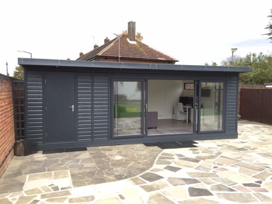 home office cabin. Garden Office Https://www.quick-garden.co.uk/. Backyard OfficeGarden Home OfficeCabin Cabin C
