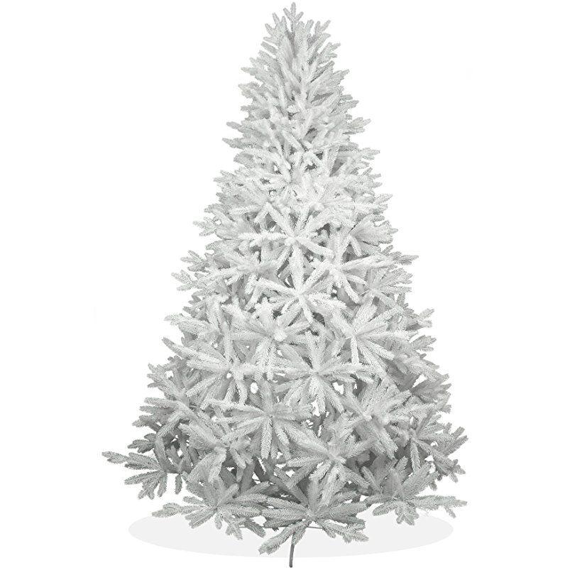 Tannenbaum Kunststoff.Weisser Kunstlicher Weihnachtsbaum 240cm In Premium