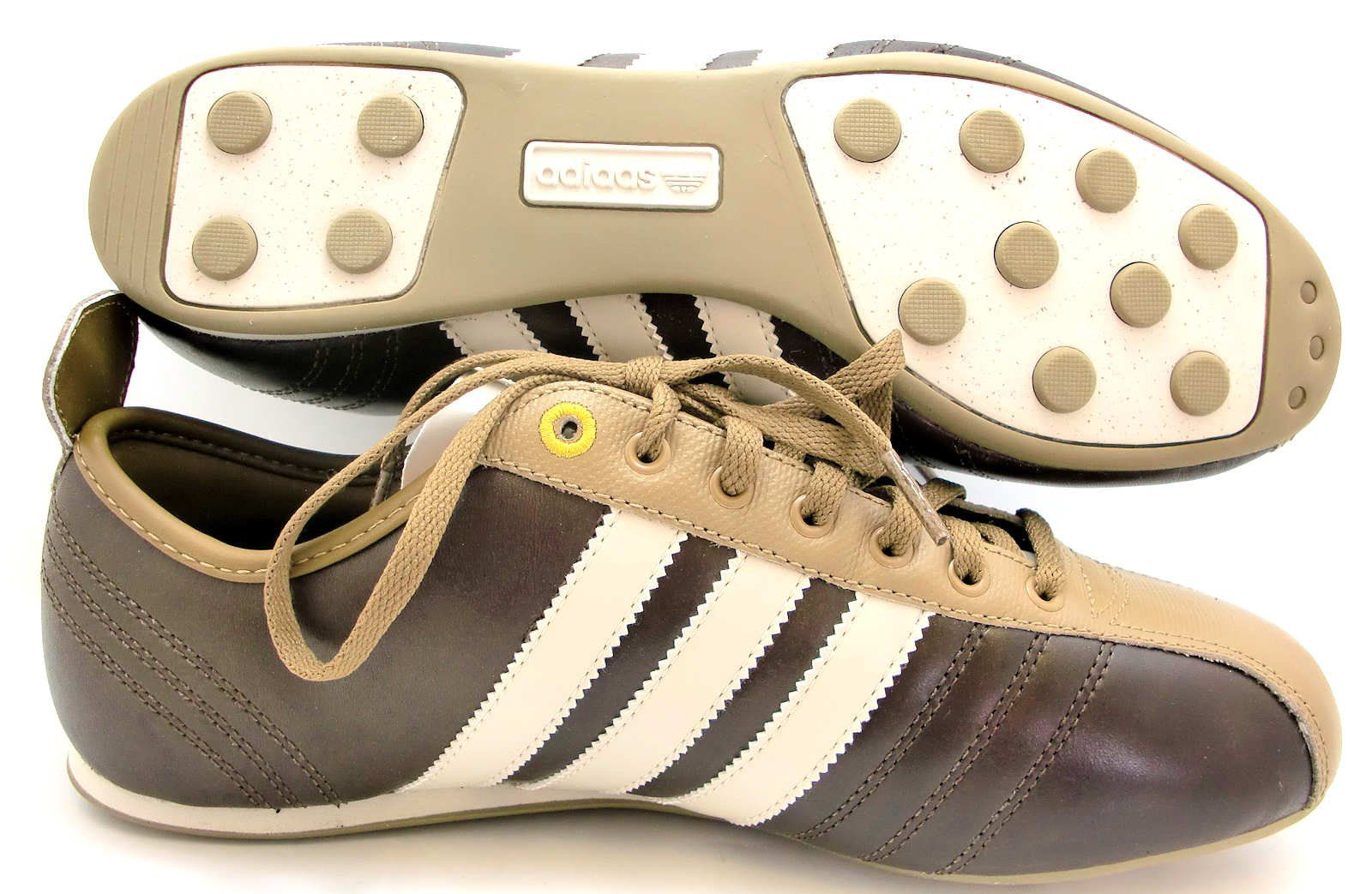 Size 6.5 Adidas Mens Low Pro Football Brown Lace Up Leather