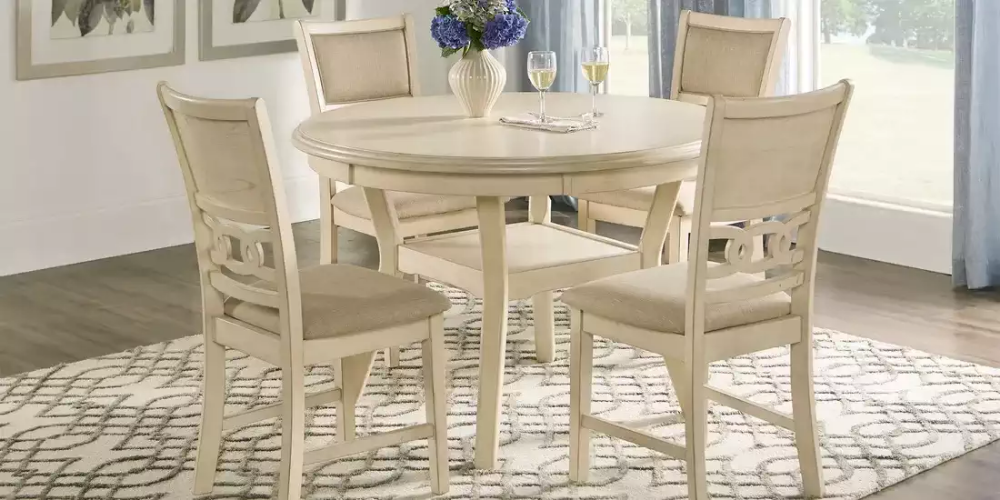 Brookgate Bisque 5 Pc Round Dining Set Rooms To Go Round Dining Set Dining Room Sets Dining Set