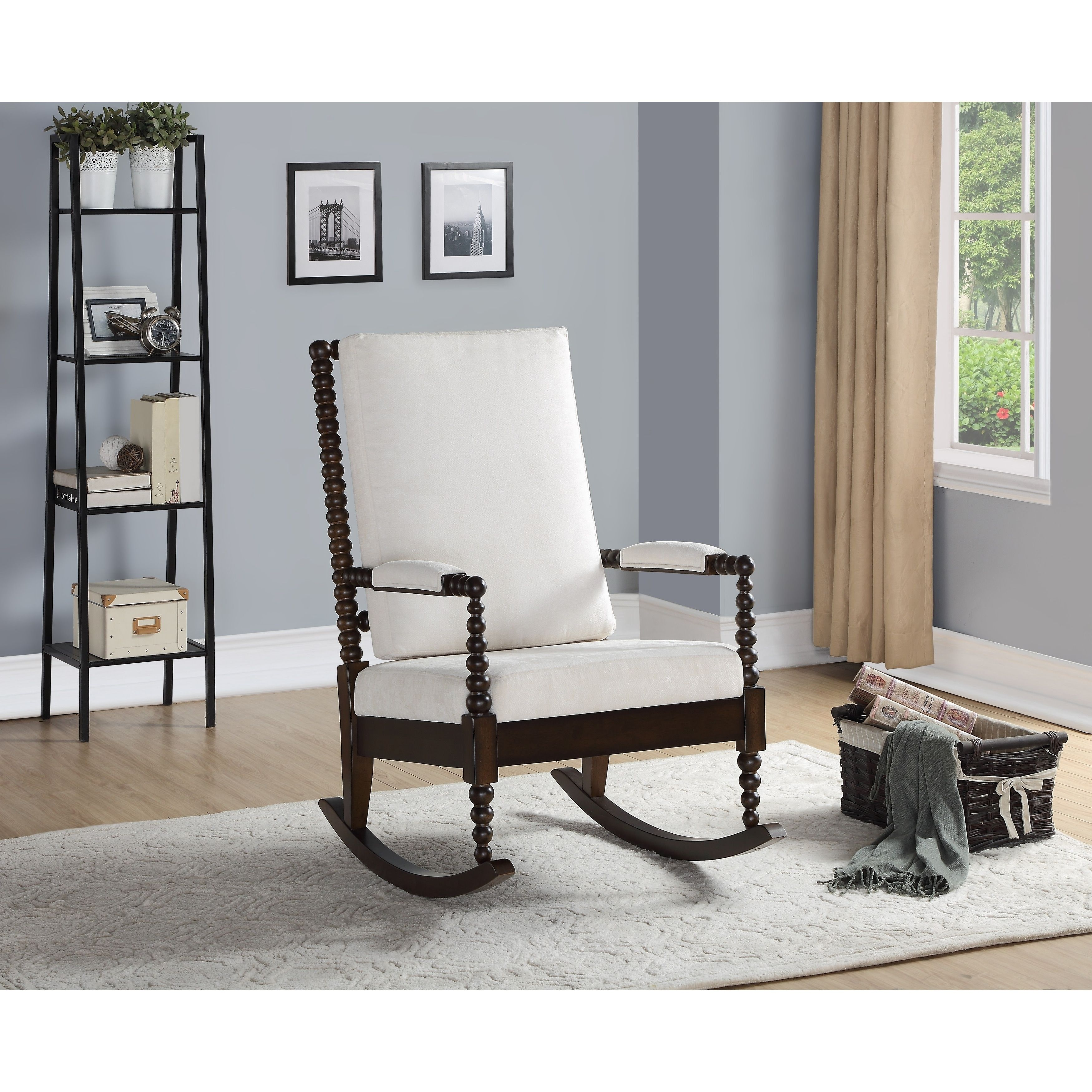 Terrific Copper Grove Drnis Rocking Chair With Cream Fabric And Squirreltailoven Fun Painted Chair Ideas Images Squirreltailovenorg