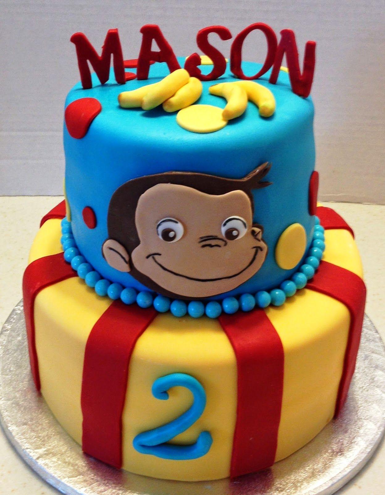 MaryMel Cakes A Curious George 2nd Birthday Pinteres