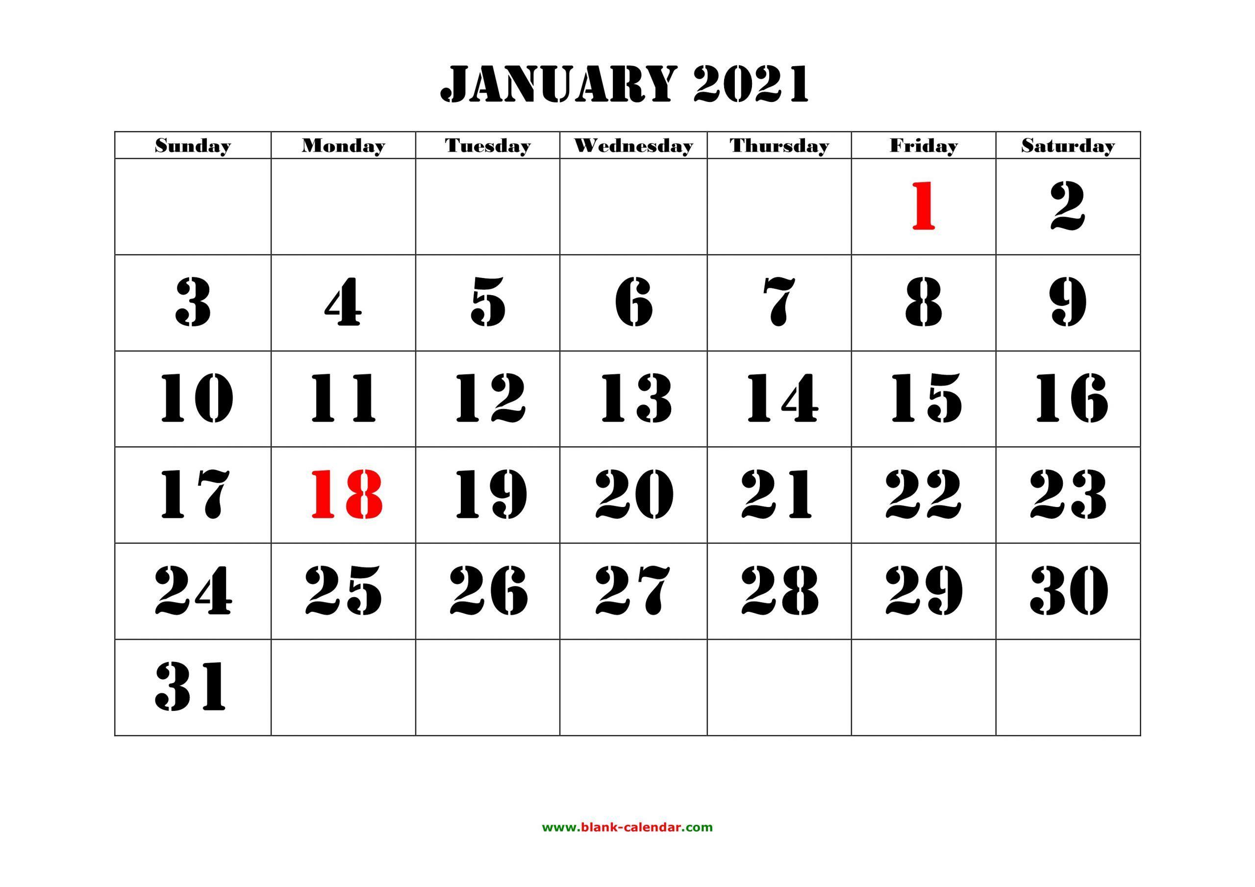 Printable Desk Calendar 2021 Big Font di 2020 (Dengan gambar)