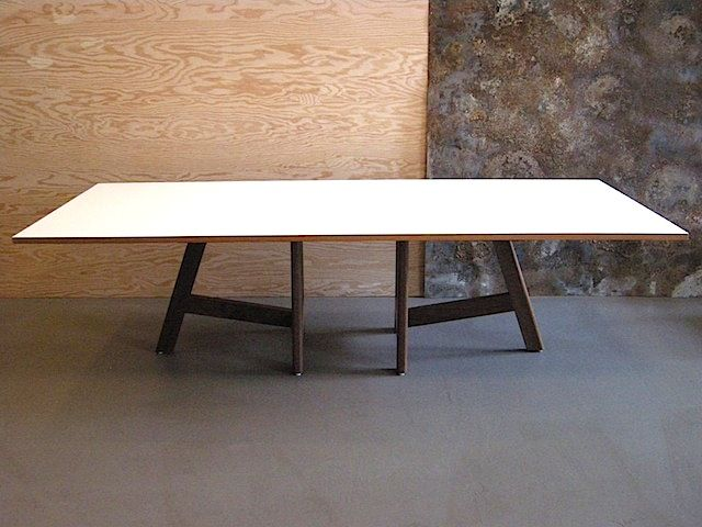 Laminate Coffee Table With Walnut Base By Jason Lees.