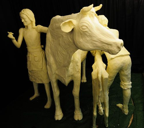 Iowa Caucus Latest Rising Star The Butter Cow Sculpture With