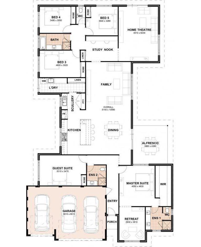Floor Plan Friday 5 Bedrooms 3 Bathrooms 3 Car Garage Bedroom House Plans 5 Bedroom House Plans House Plans