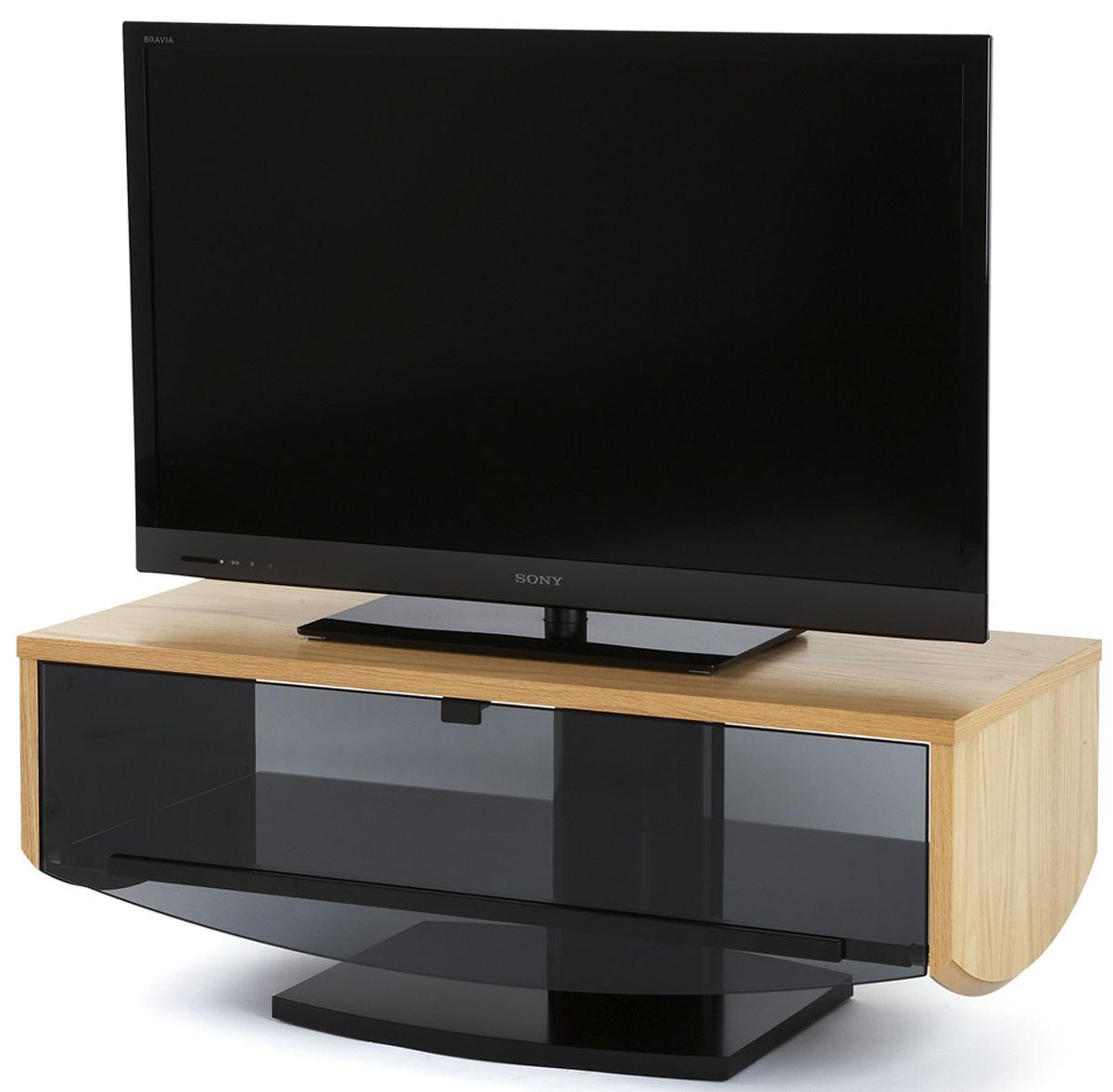 Off The Wall Eclipse Oak Tv Cabinet For Tvs Up To 52 Tv