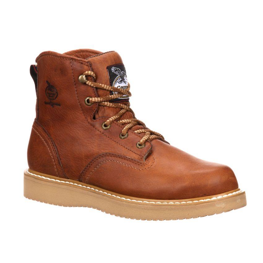 "Georgia Men's Steel Toe Wedge 6"" Work Boots"