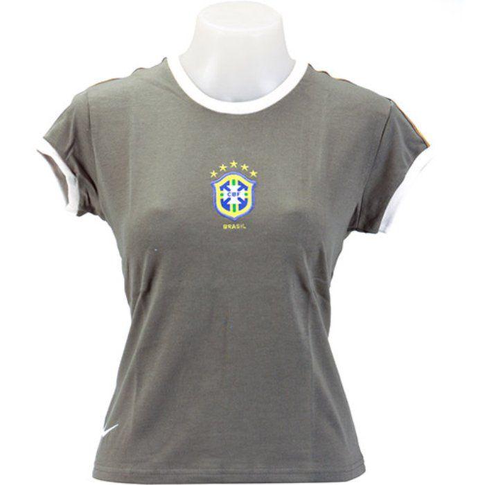 Camiseta do Brasil Transit Feminina - Nike  d5b963ec1a03b