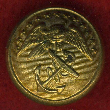 Civil War era MARINE CORPS uniform button WATERBURY b/m