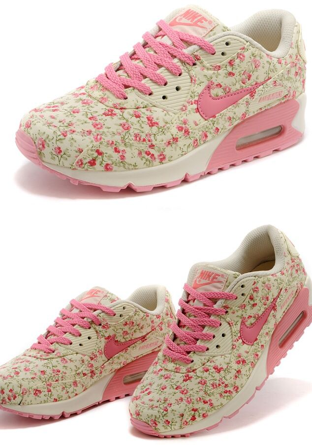 Nike Air Max 90 Pink Flowers   Chaussure, Bottes, Mode